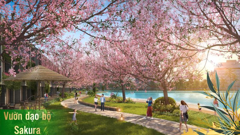 Tiện ích 5 sao Dự án TMS Homes Wonder World - Vườn dạo bộ Sakura