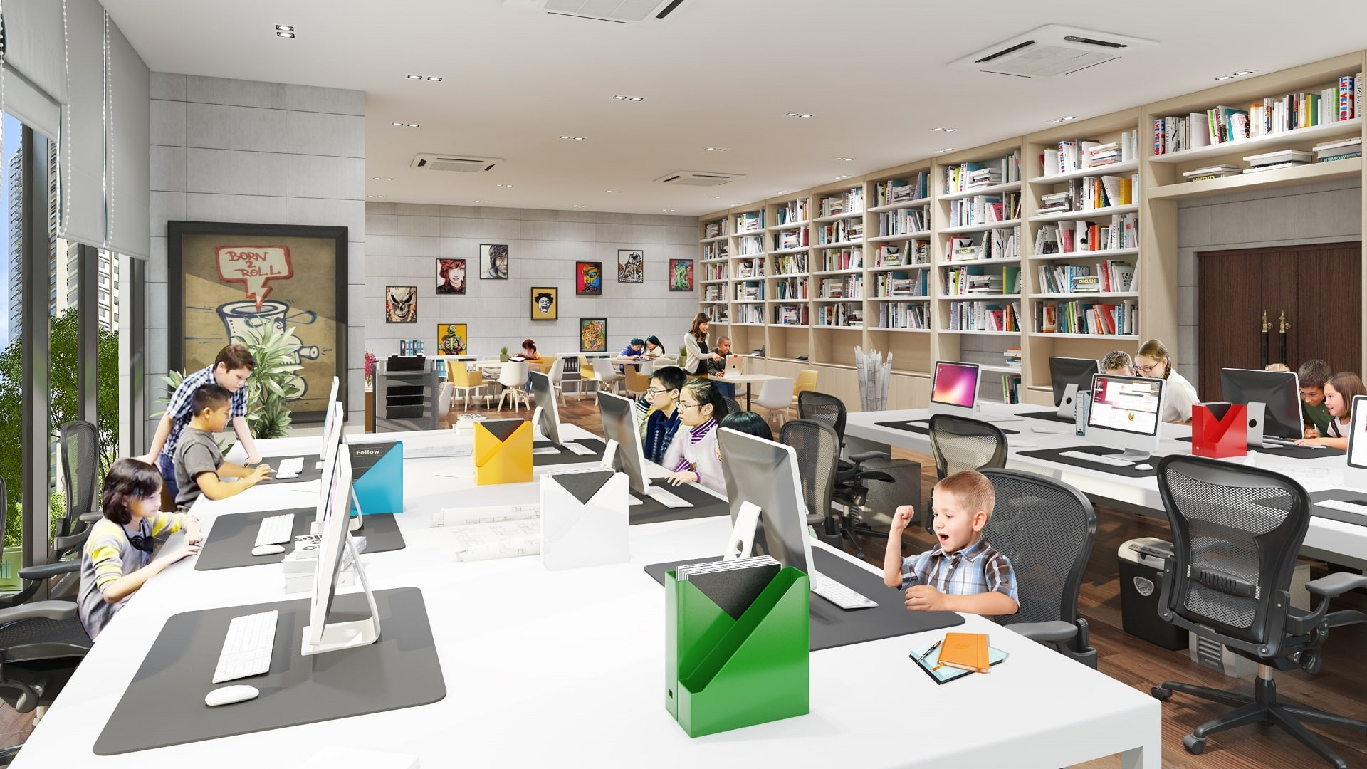 Tiện ích cao cấp Chung cư TNR The Nosta - Phòng đọc sách thiếu nhi
