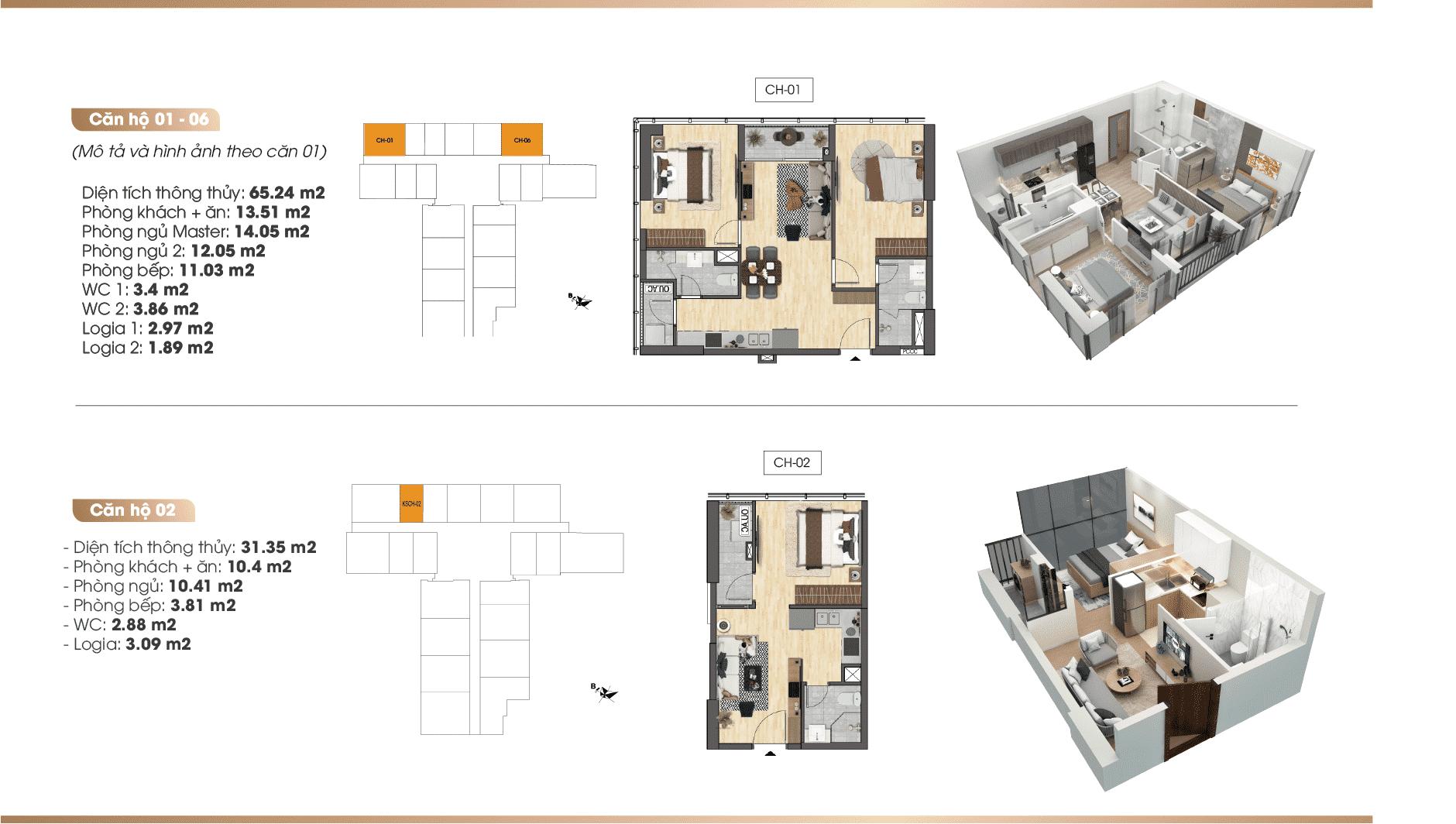 Chi tiết căn hộ Dự án TNR 90 Đường Láng 01-02-06