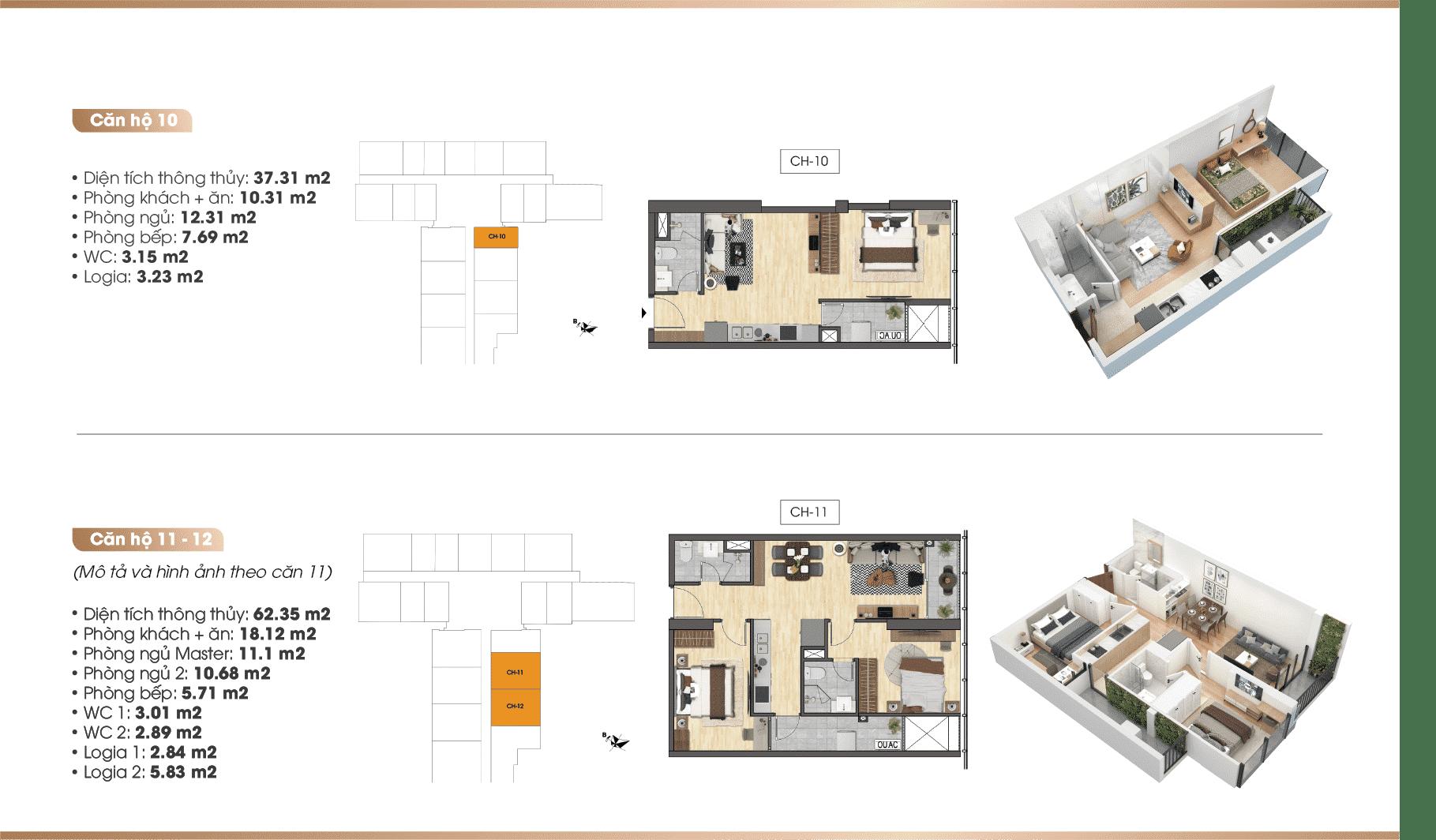 Chi tiết căn hộ Dự án TNR 90 Đường Láng 10-11-12