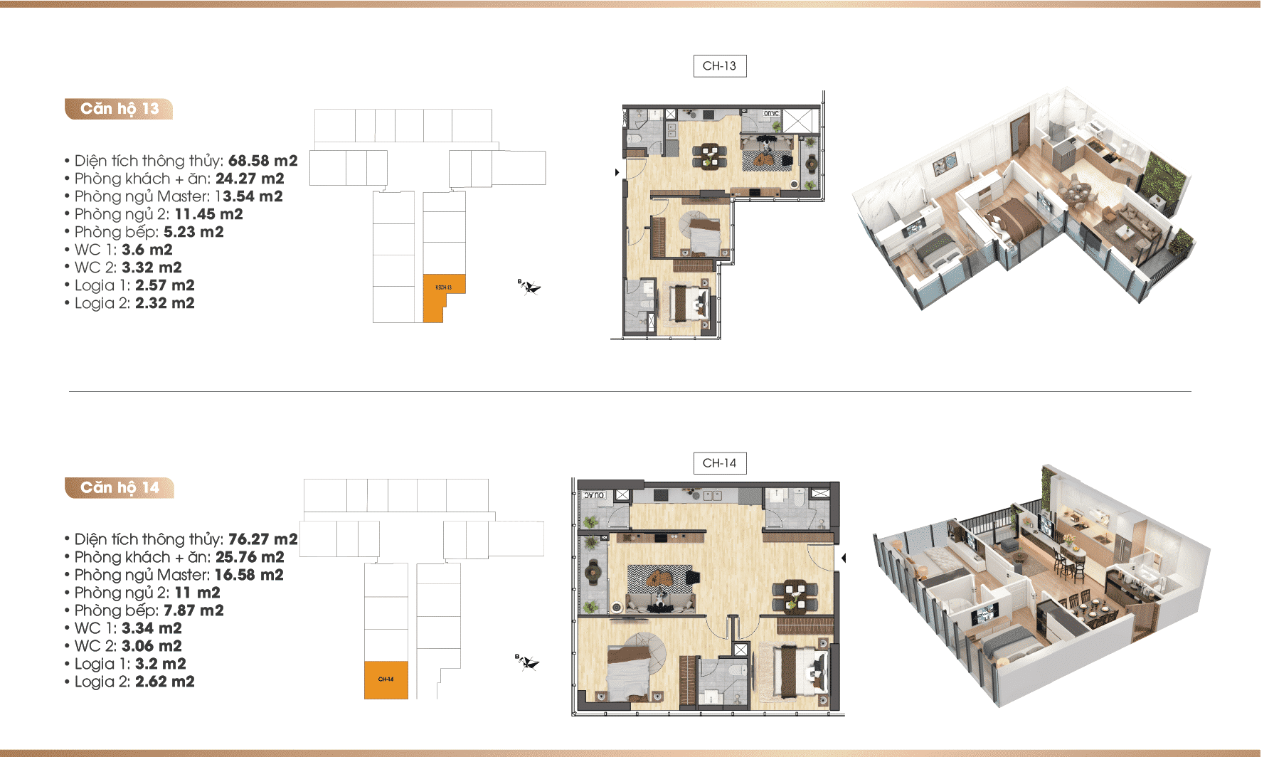 Chi tiết căn hộ Dự án TNR 90 Đường Láng 13-14