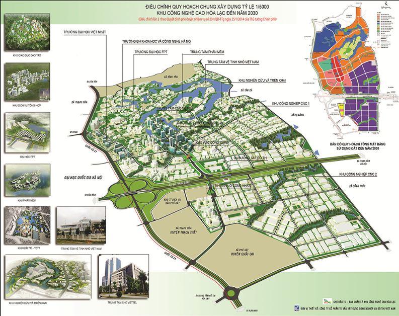Khu CNC Đất nền Hòa Lạc dọc theo QL21 và Đại lộ Thăng Long