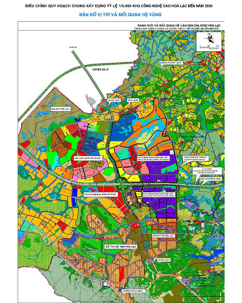 Quy hoạch KĐT Đất nền Hòa Lạc - Thành phố vệ tinh cách Trung tâm Hà Nội 28km