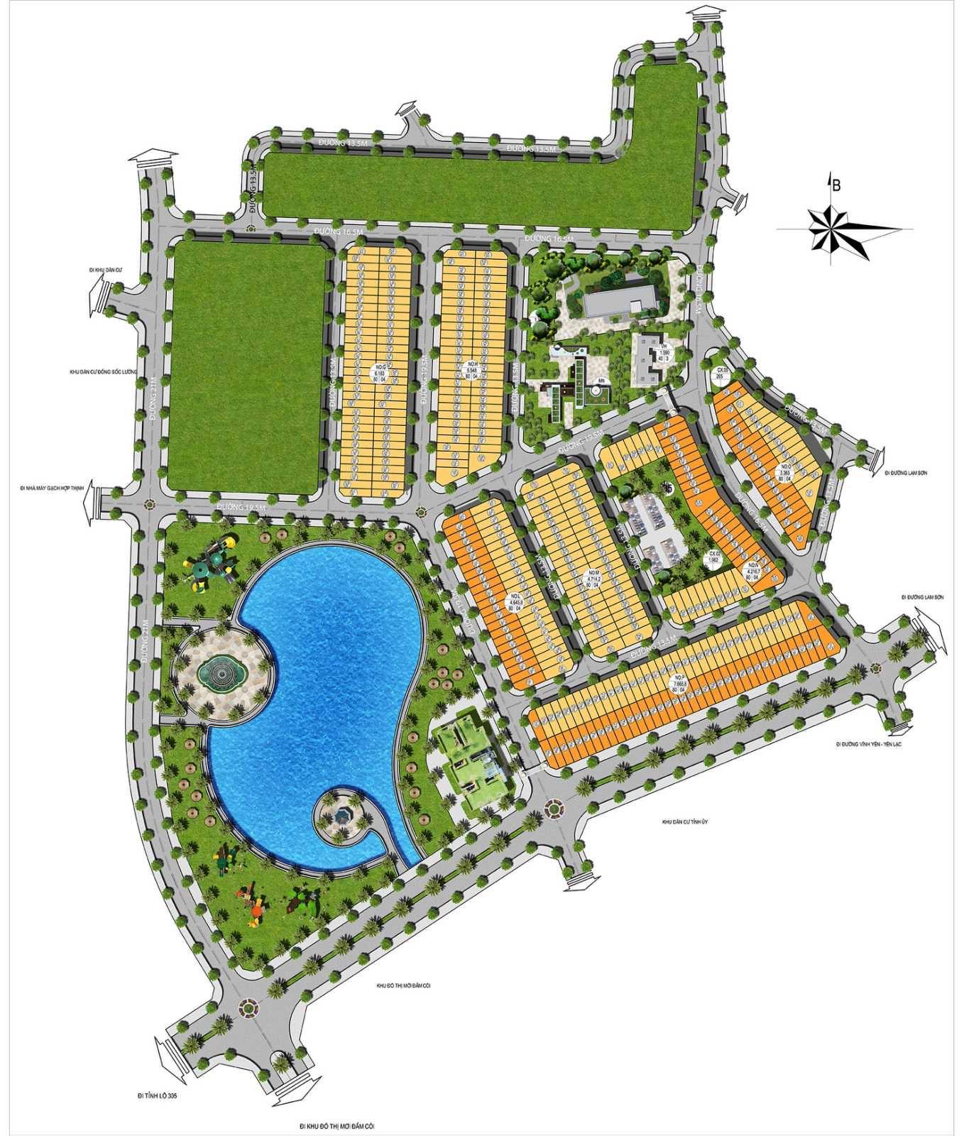 Mặt bằng chi tiết Phân lô Đất nền Dự án Vân Hội Center City