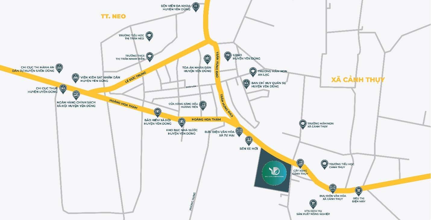 Dự án Yên Dũng Bắc Giang sở hữu vị trí kết nối vùng thuận tiện