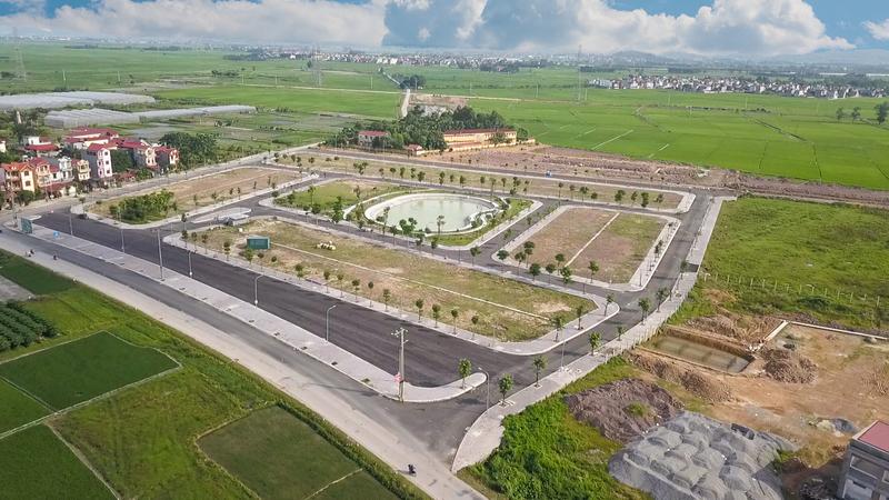 Ảnh thực tế Dự án Yên Dũng Green Park tháng 8 năm 2020 - hạ tầng hoàn chỉnh
