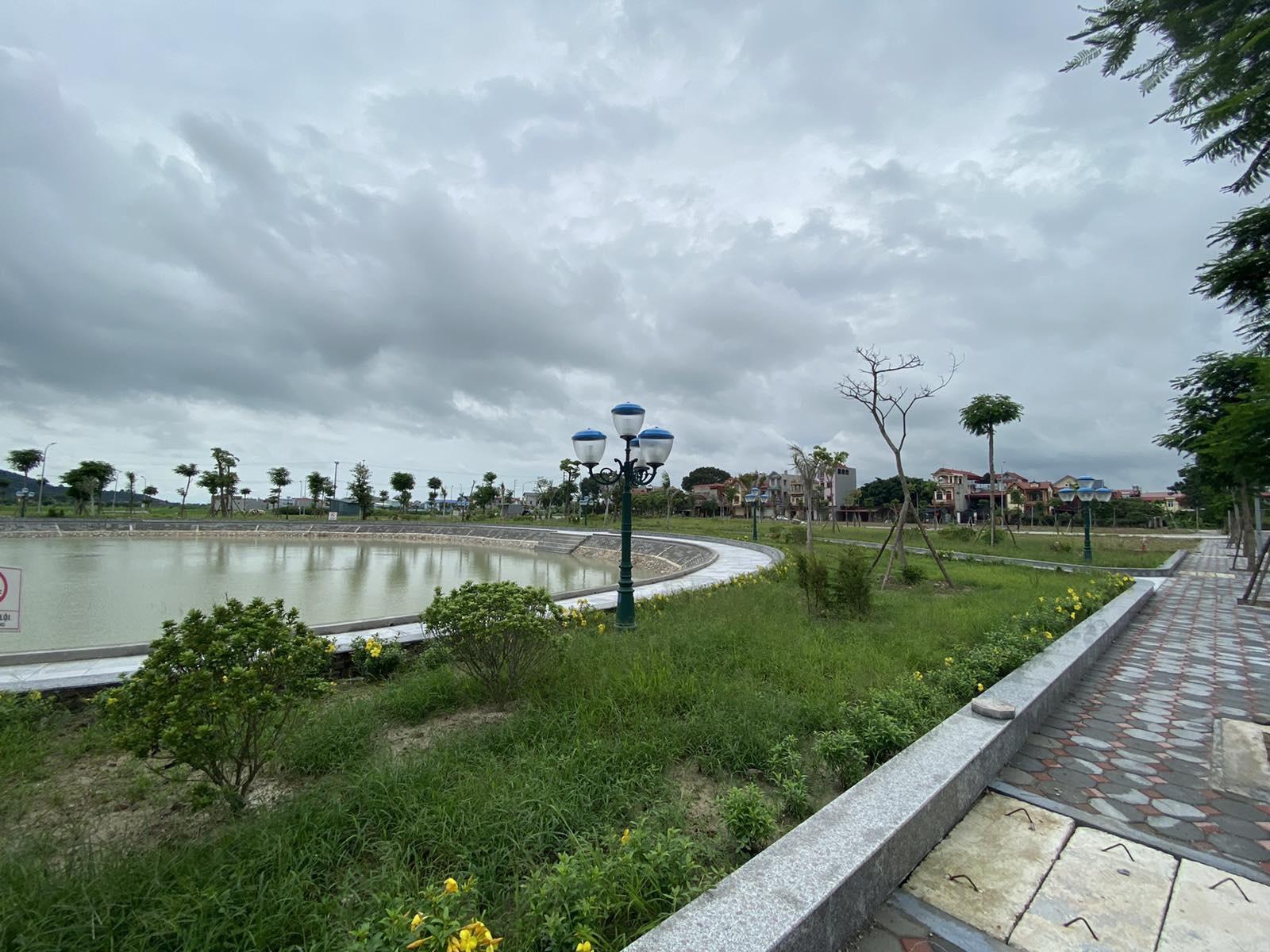 Cận cảnh hồ điều hòa Yên Dũng Green Park 5000 m2