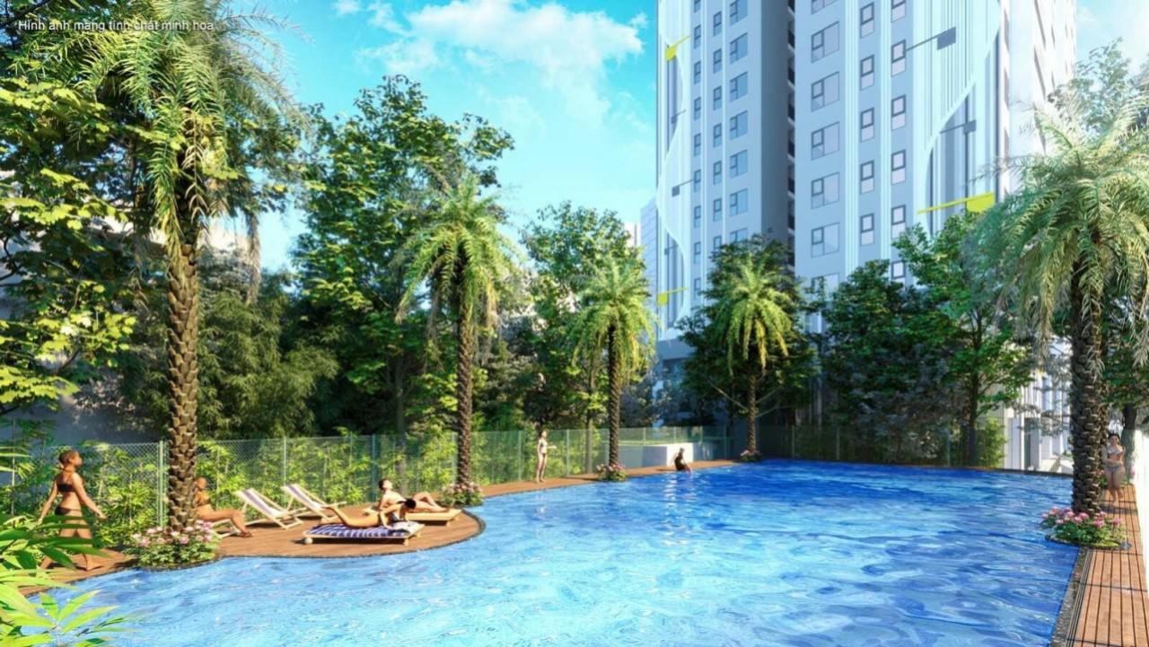 Bể bơi ngoài trời giúp quý cư dân nâng cao thể lực