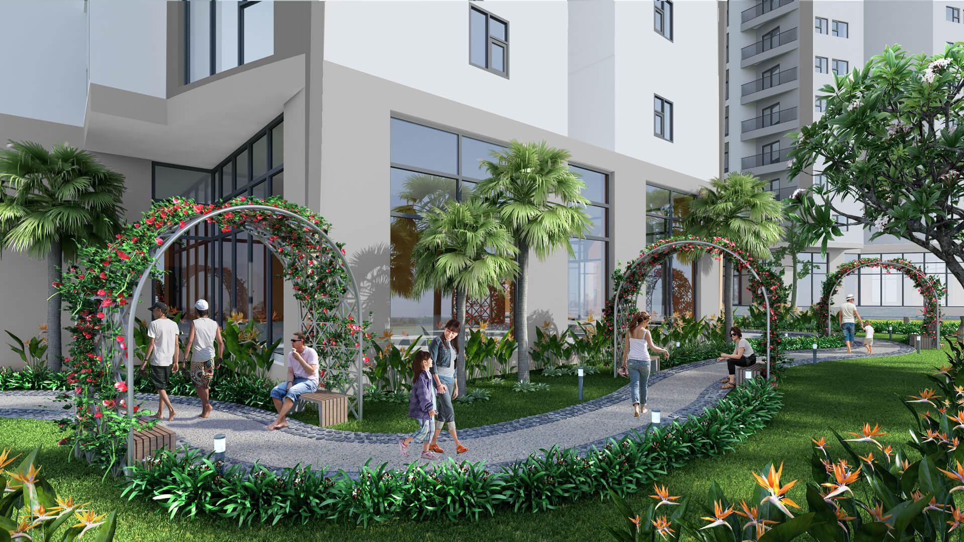 Đường dạo bộ bao quanh dự án BRG Berriver Jardin 360 Nguyễn Văn Cừ