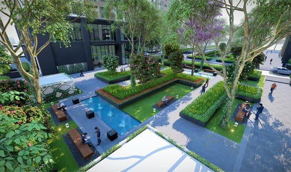 Khuôn viên và Vườn treo Dự án Geleximco Giải Phóng Southern Star