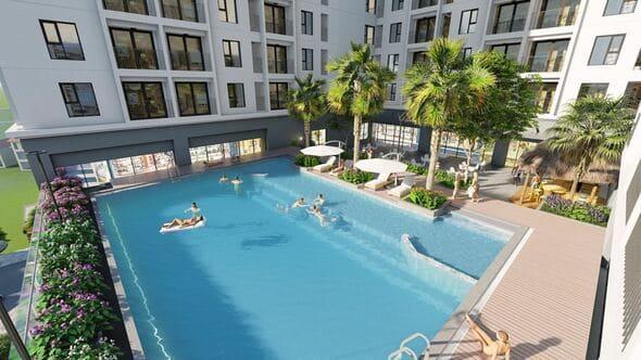 Bể bơi đẳng cấp Chung cư Southern Star Giáp Bát Geleximco