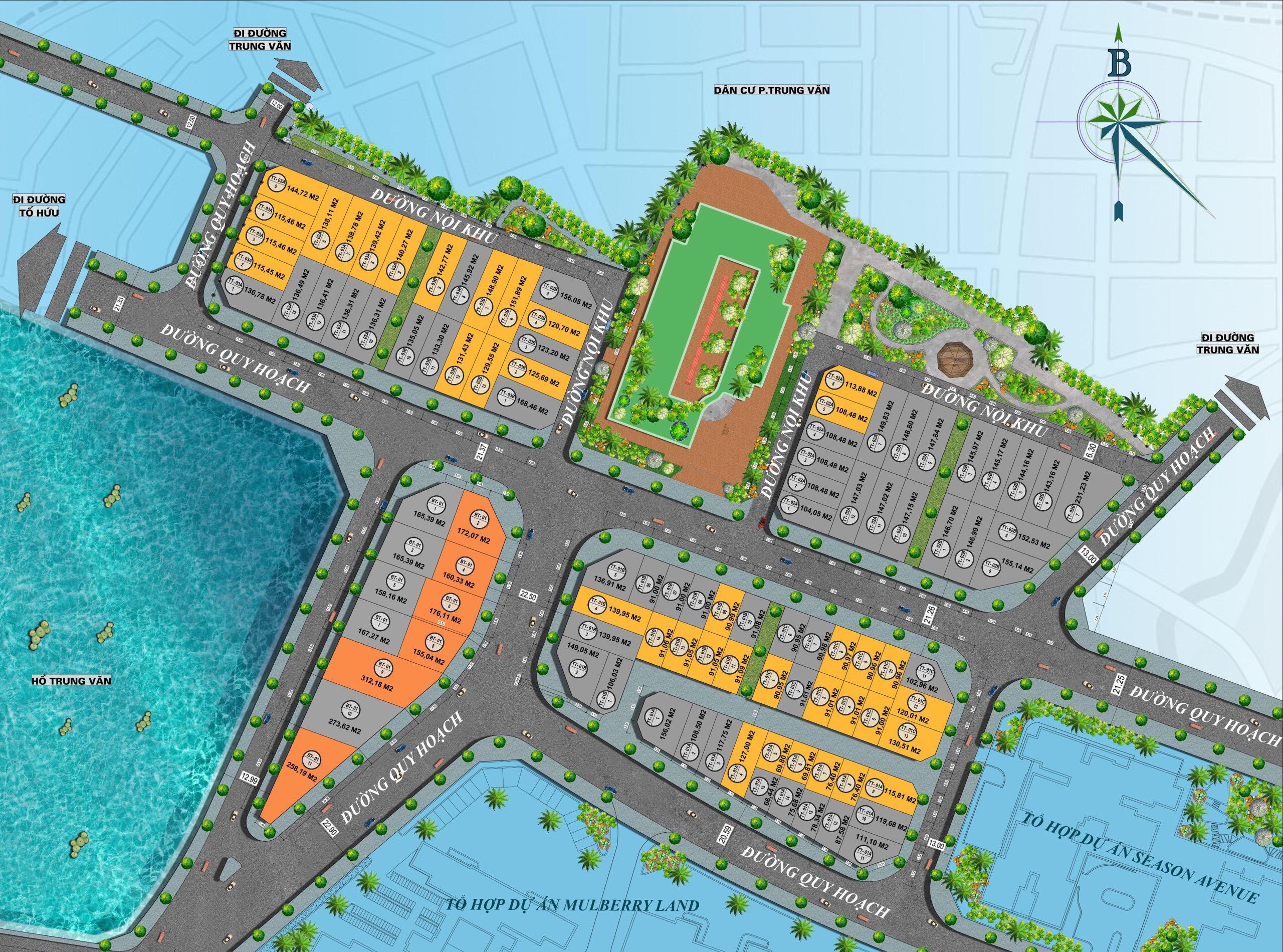 Mặt bằng kỹ thuật Dự án Biệt thự Liền kề Hoàng Thành Villas Mộ Lao - Hà Đông