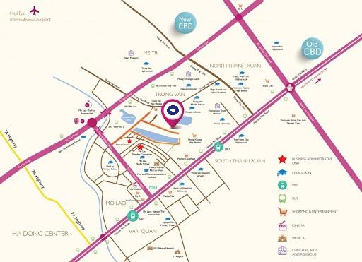 Tọa độ Vàng - Làng Việt Kiều Dự án Hoàng Thành Villas Mộ Lao