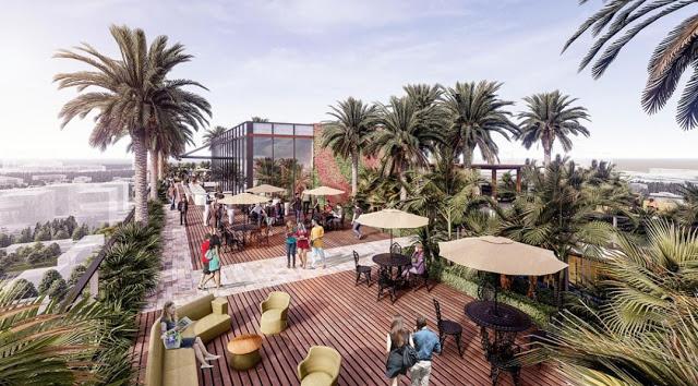 Cà phê 360 Panorama tầng Rooftop Chung cư Sunshine Green Iconic Long Biên