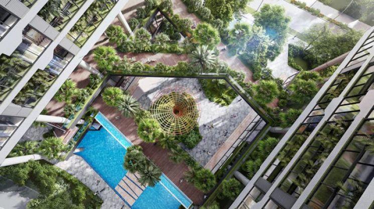 Cảnh quan thiên nhiên trong từng căn hộ dự án Villas Green Iconic