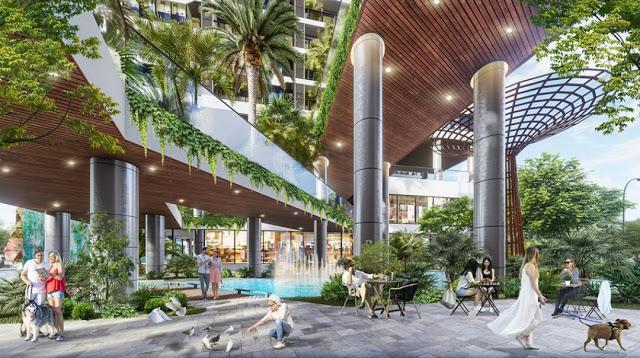Sảnh dự án Sunshine Green Iconic là nơi chào đón Quý chủ nhân trở về Villas trên không đẳng cấp