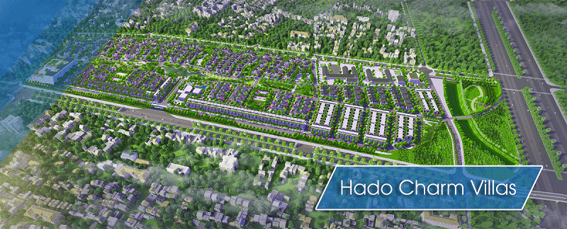 Phối cảnh Tổng thể Dự án Biệt thự liền kề Hado Charm Villas