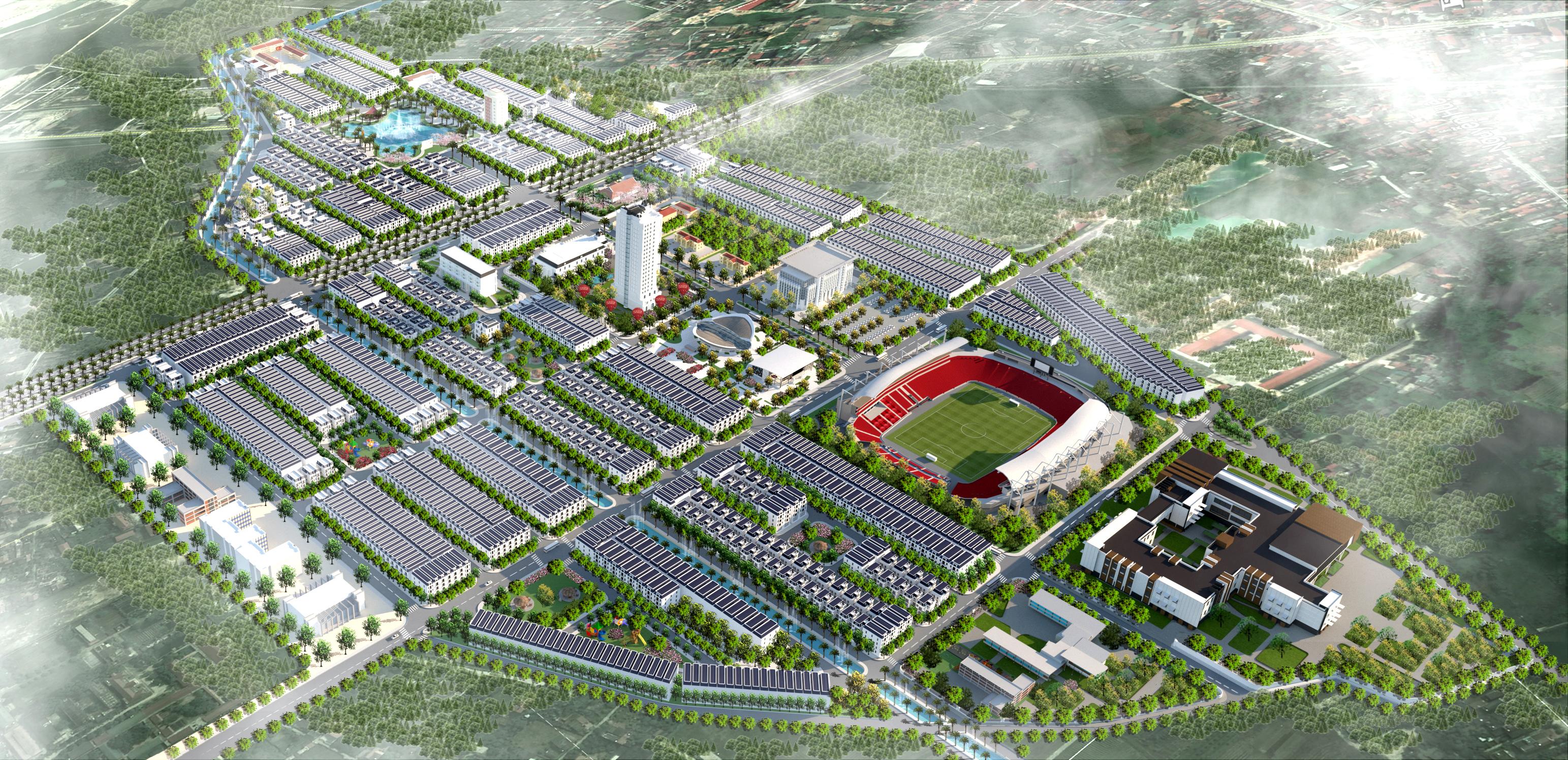 Phối cảnh Flycam Dự án Chí Linh Palm City Chí Linh Hải Dương