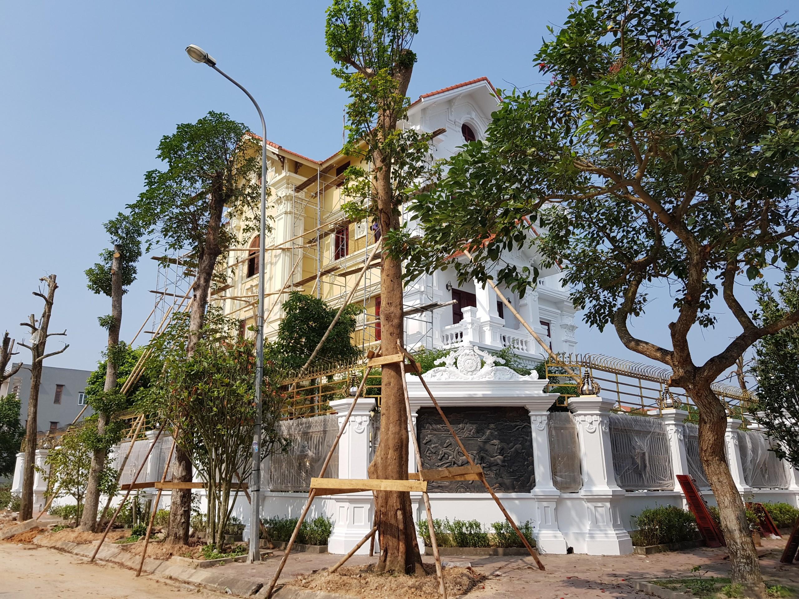 Biệt thự đang hoàn thiện Dự án Chí Linh Palm City