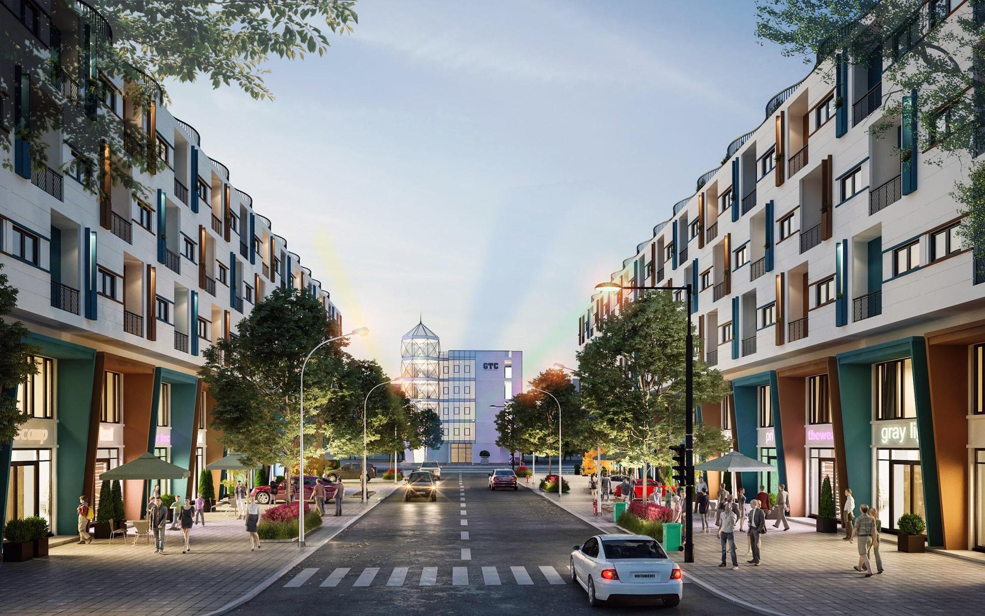 Shophouse đường Galaxy 1 dự án Ngân Hà Galaxy Vạn Phúc Hà Đông