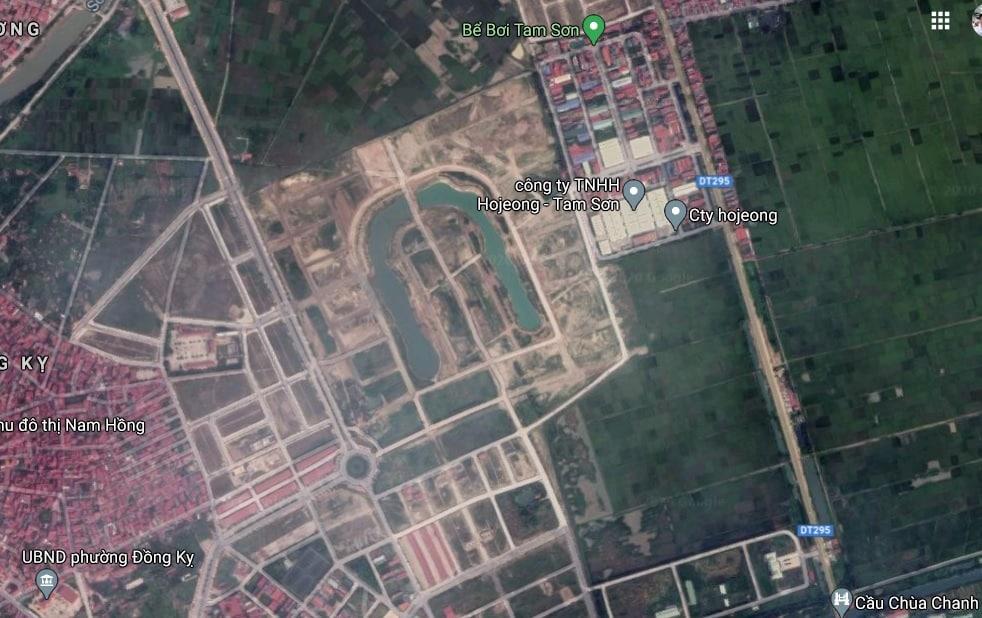 Google Maps cập nhật Mặt bằng Dự án Nam Hồng Garden - Từ Sơn Garden City