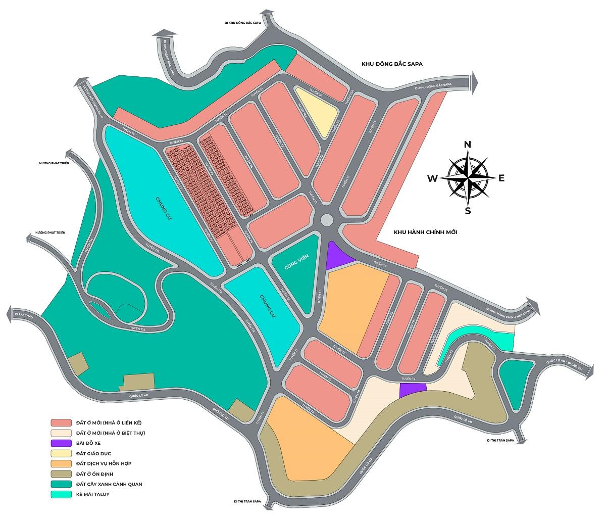 Mặt bằng Dự án Sapa Garden Hills