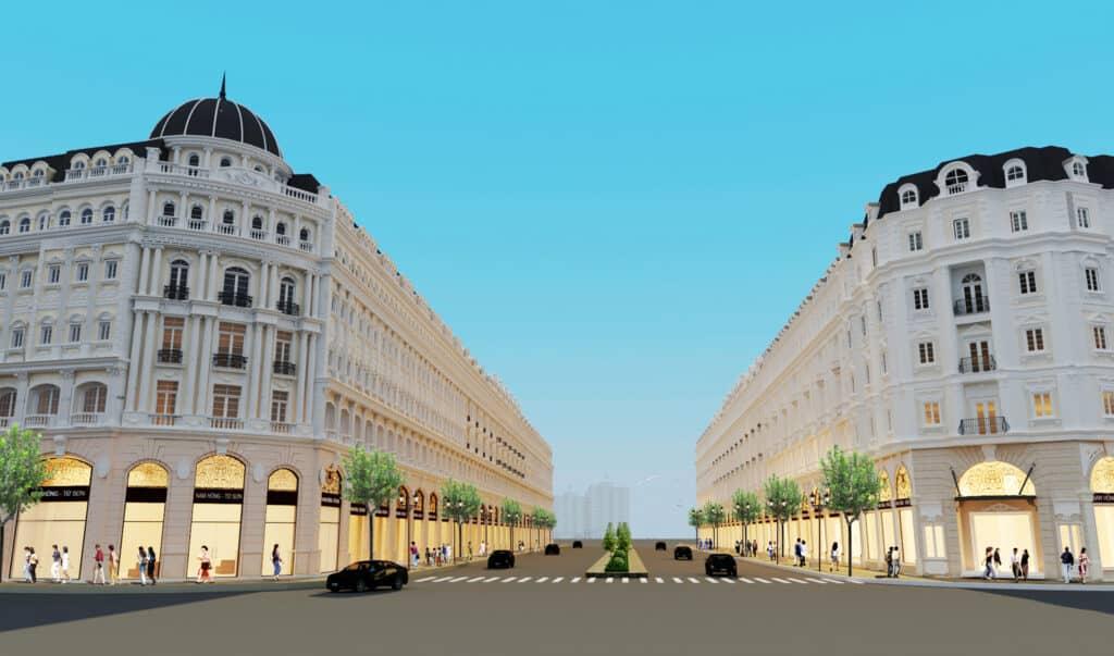 Trục thương mại shophouse Trung tâm Dự án Từ Sơn Garden City Đồng Kỵ 2020