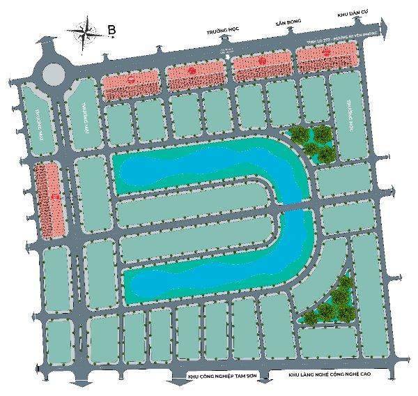 Mặt bằng Phân khu 50,5 ha đã hoàn thiện, Giấy chứng nhận QSD đất ở tại Đô thị