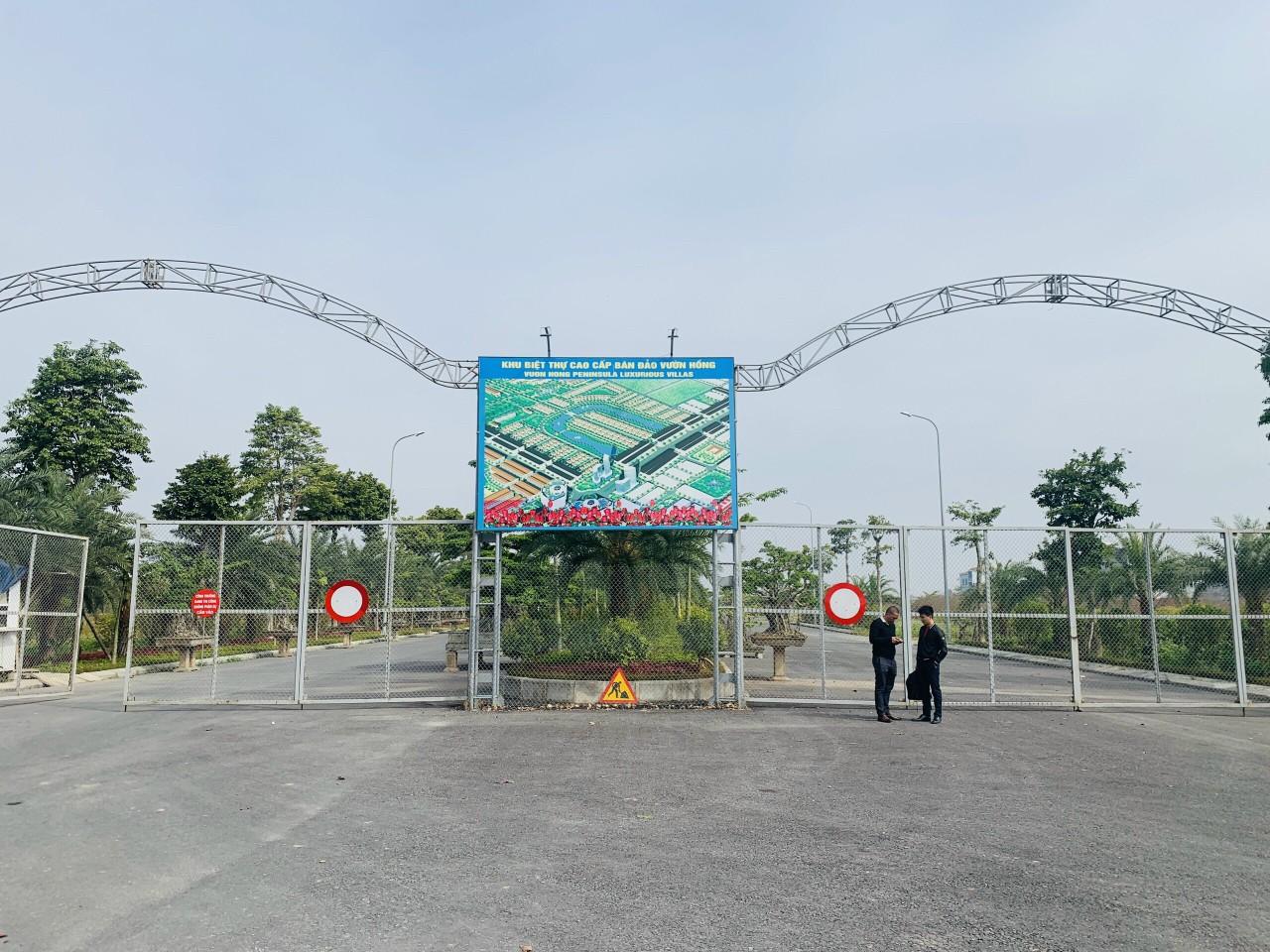 Cổng Dự án Nam Hồng Garden Đồng Kỵ - Từ Sơn Garden City dọc trục 44m