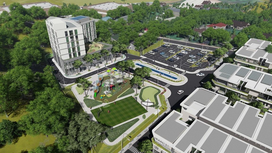 Dự án The Spring Town Xuan Mai thiết kế nhiều không gian công cộng