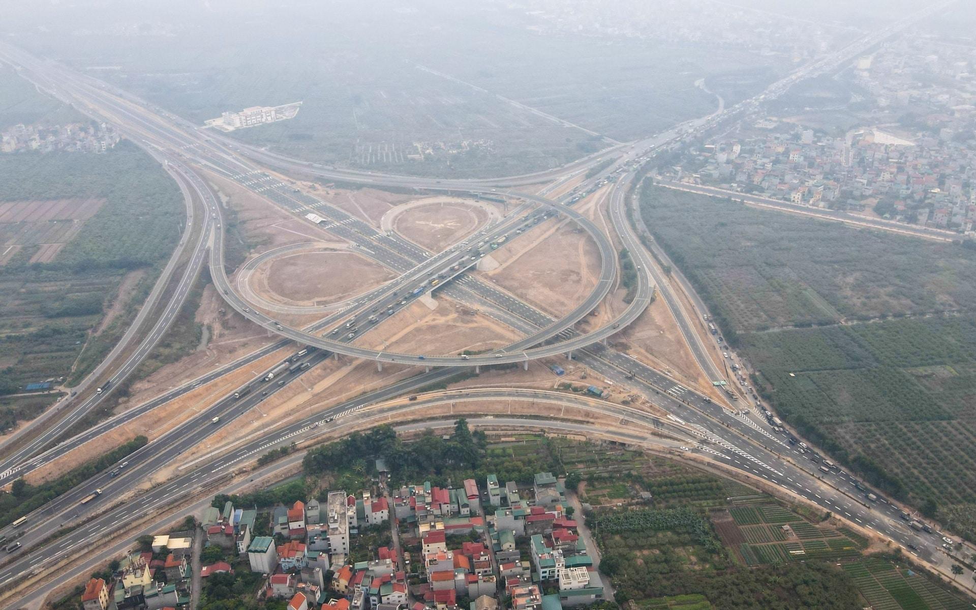 Nút giao Vành đai 3 TP Hà Nội với Cao tốc Hà Nội - Hải Phòng