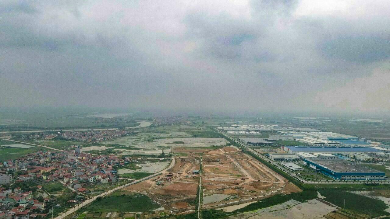 Flycam thực tế Dự án An Bình Central Park Vọng Đông tháng 3 năm 2021 hạ tầng 90%