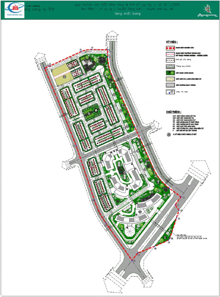 Mặt bằng Dự án Calyx Residence 319 Uy Nỗ - Đông Anh