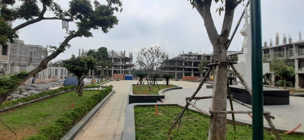 Cảnh quan Dự án Calyx Residence 319 Uy Nỗ đang hoàn thiện