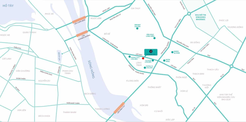 Vị trí Dự án Eco Smart City Cổ Linh 2021