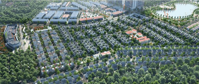 Khu Biệt thự An Vượng Villa Nam Cường Dương Nội