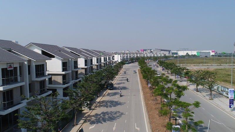 Dẫy Biệt thự An Vượng Villa dọc Đường Lê Quang Đạo kéo dài