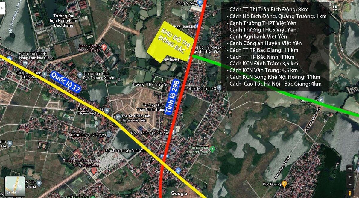 Dự án Tuấn Quỳnh Bích Động sở hữu vị trí tọa độ trung tâm