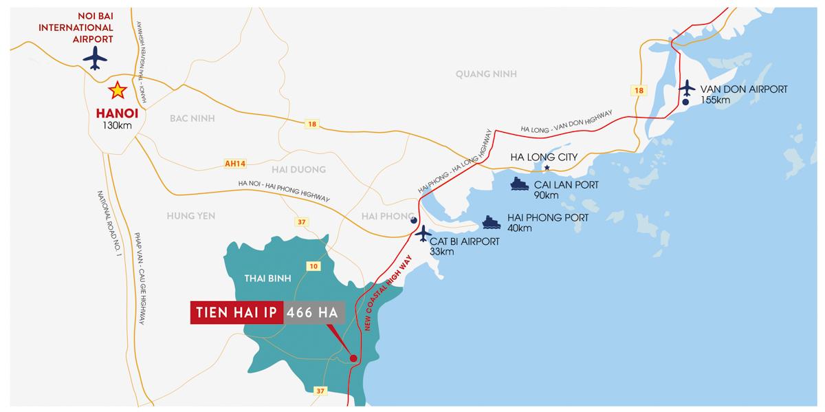 Cao tốc ven biển kết nối Tứ Giác phát triển Miền Bắc Tiền Hải hưởng lợi