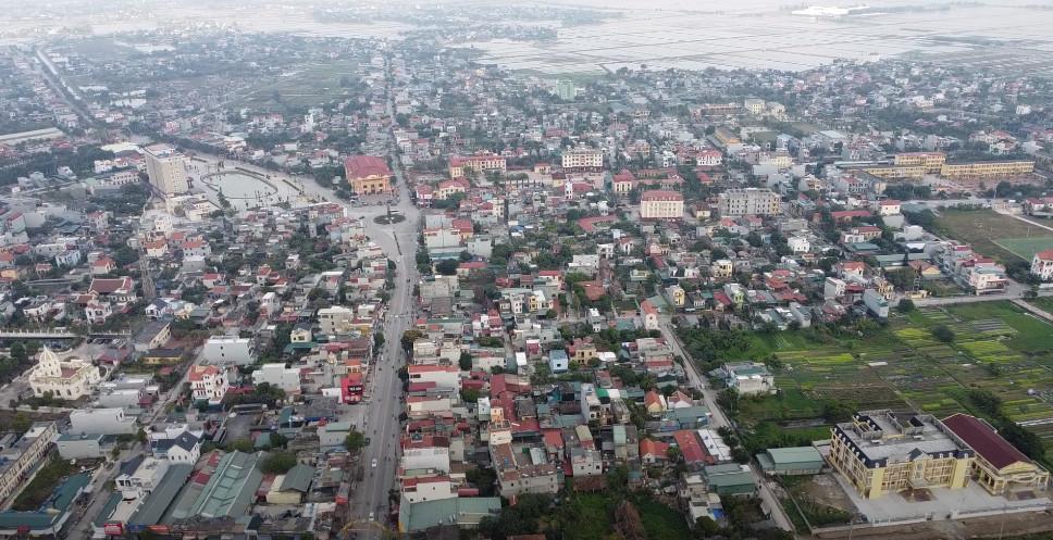Một góc Thị trấn Tiền Hải trục QL39B - Ngã 5 ba Ông Tượng Tiền Hải