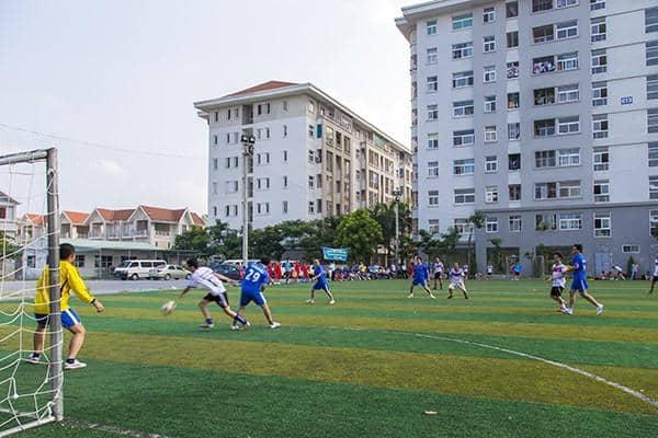 Cuộc sống thường nhật cộng đồng Dự án KĐT Đặng Xá - Sân bóng đá 2021