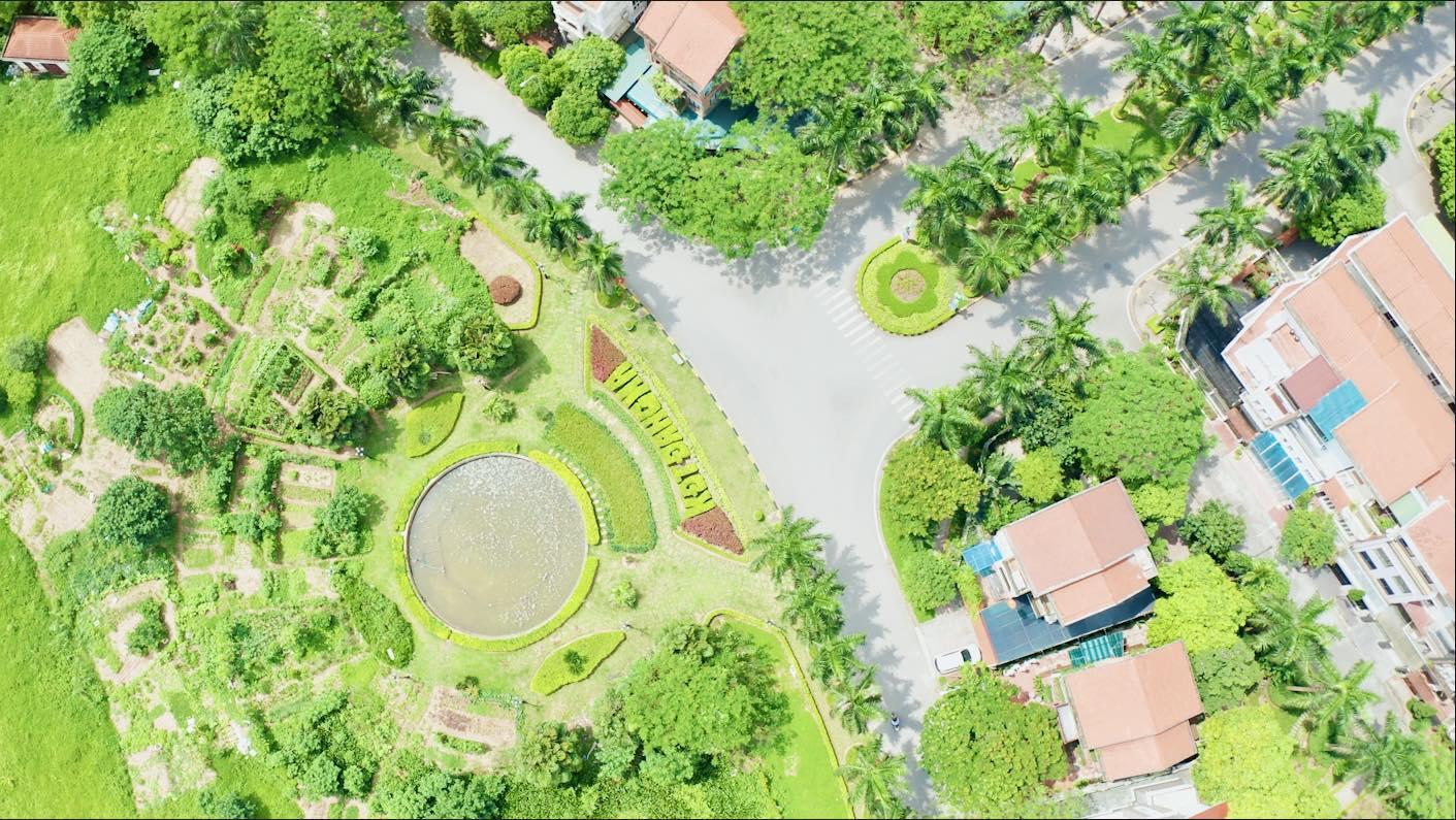 Khuôn viên Xanh mát chiếm đến 80% diện tích KĐT Đặng Xá Gia Lâm