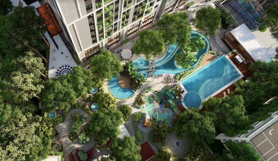 Không gian sống Xanh - Chuẩn Resort nội đô tại Chung cư Feliz Homes Đền Lừ Hoàng Văn Thụ
