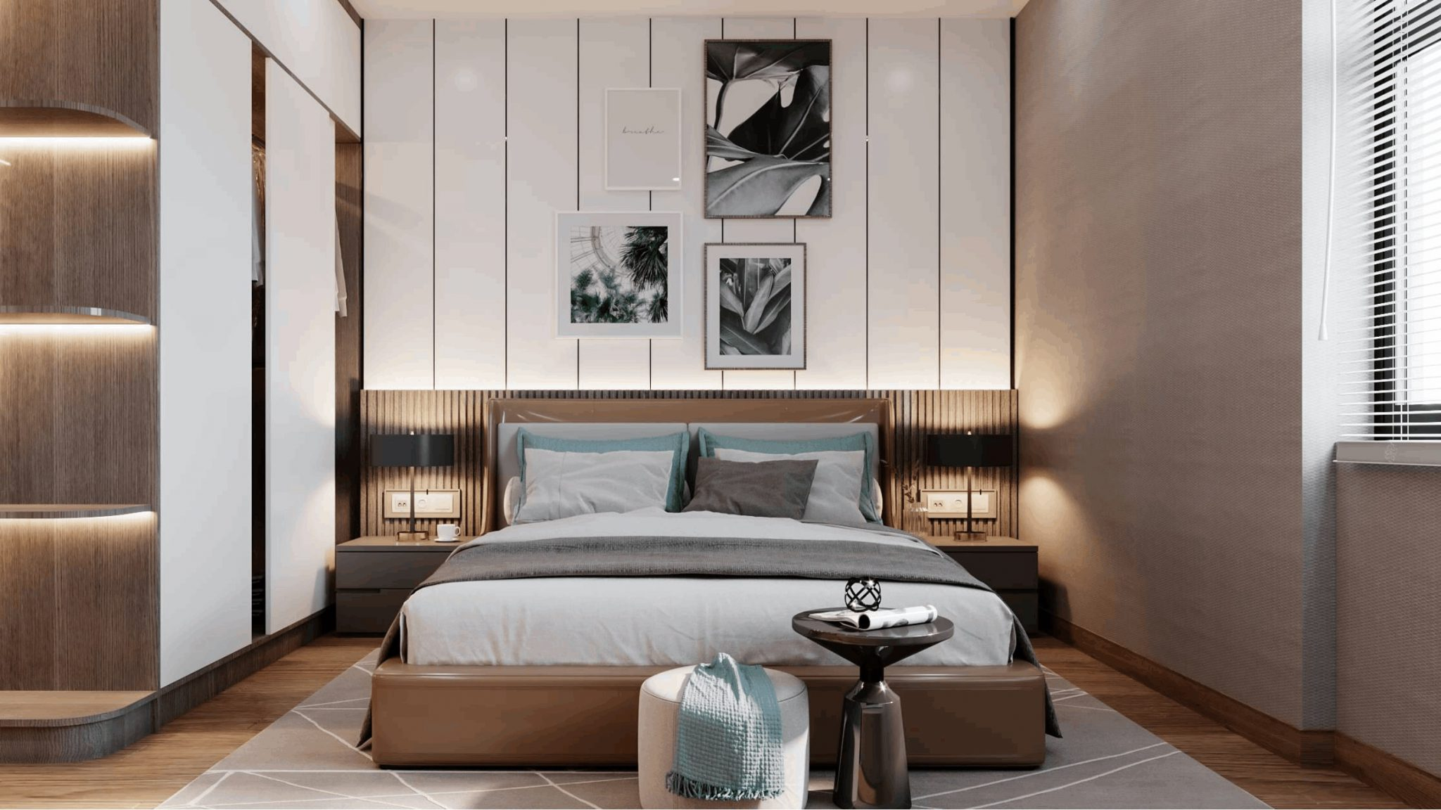 Phòng ngủ đủ nắng và gió tự nhiên Chung cư Feliz Homes Đền Lừ Hoàng Mai