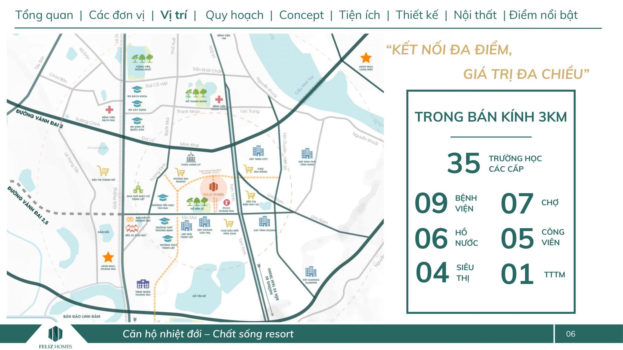 Vị trí Vàng nội đô Dự án Feliz Homes Đền Lừ Hoàng Mai Hà Nội