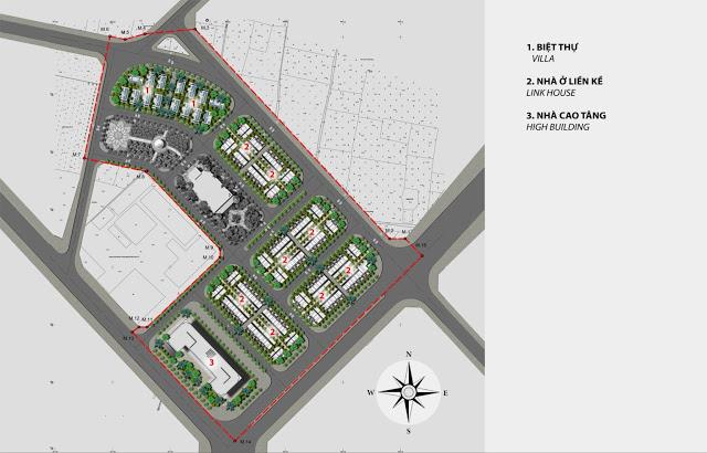Mặt bằng Quý hoạch Dự án Vimefulland Cổ Dương Helianthus Center Red River 2021
