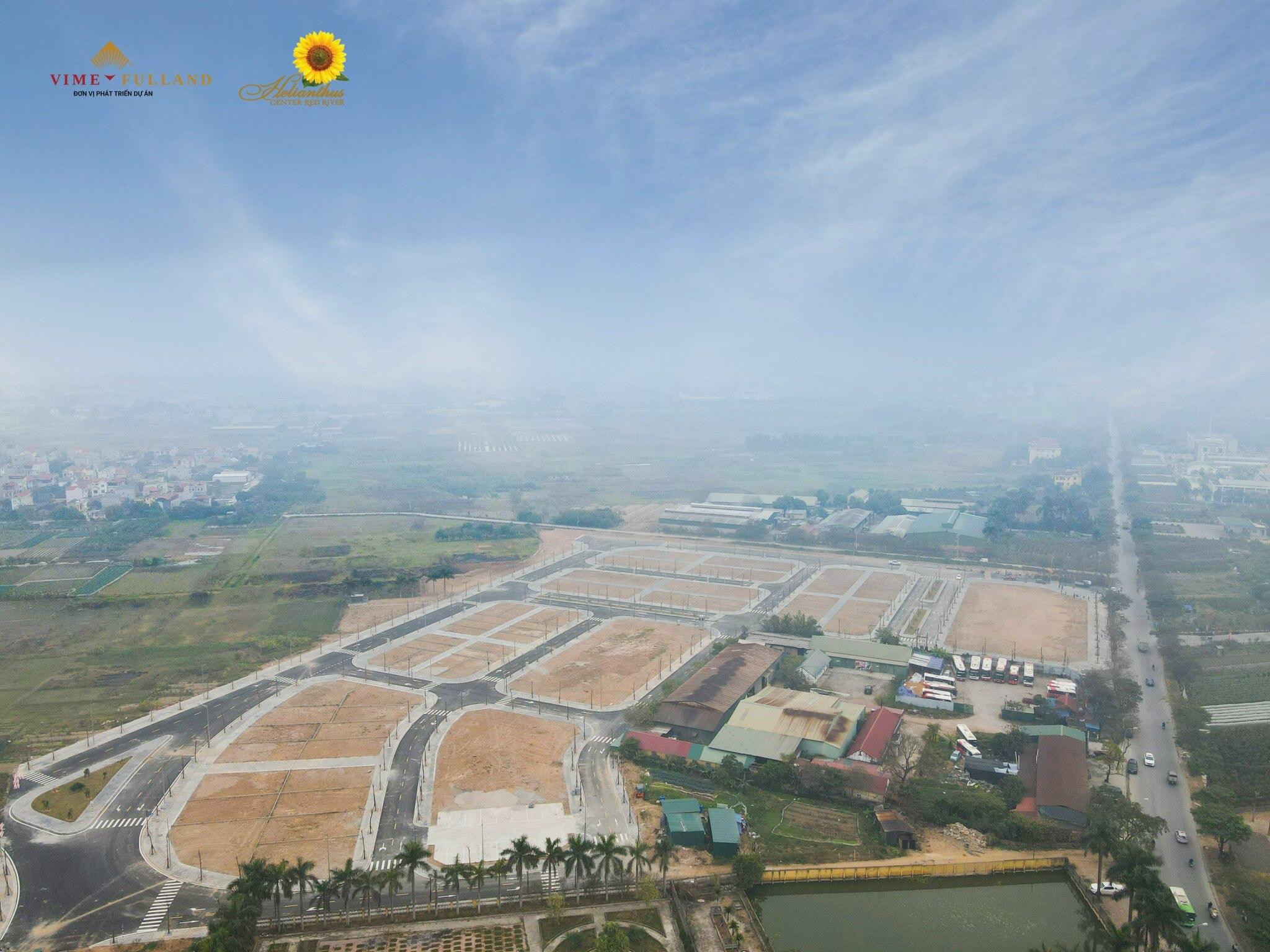 Flycam Dự án Vimefulland Cổ Dương Helianthus Center Red River tháng 5 năm 2021