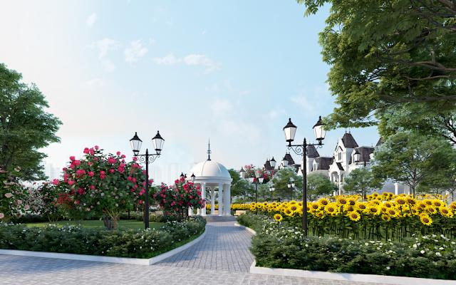 Dự án Biệt thự Vimefulland Cổ Dương Helianthus Center Red River bên những vườn hoa bất tận