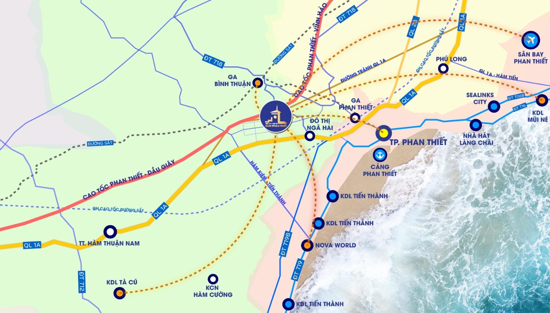 Hệ thống cao tốc, đường bộ dày đặc nâng tầm kết nối tạo dư địa tăng giá mạnh mẽ BĐS Bình Thuận Phan Thiết