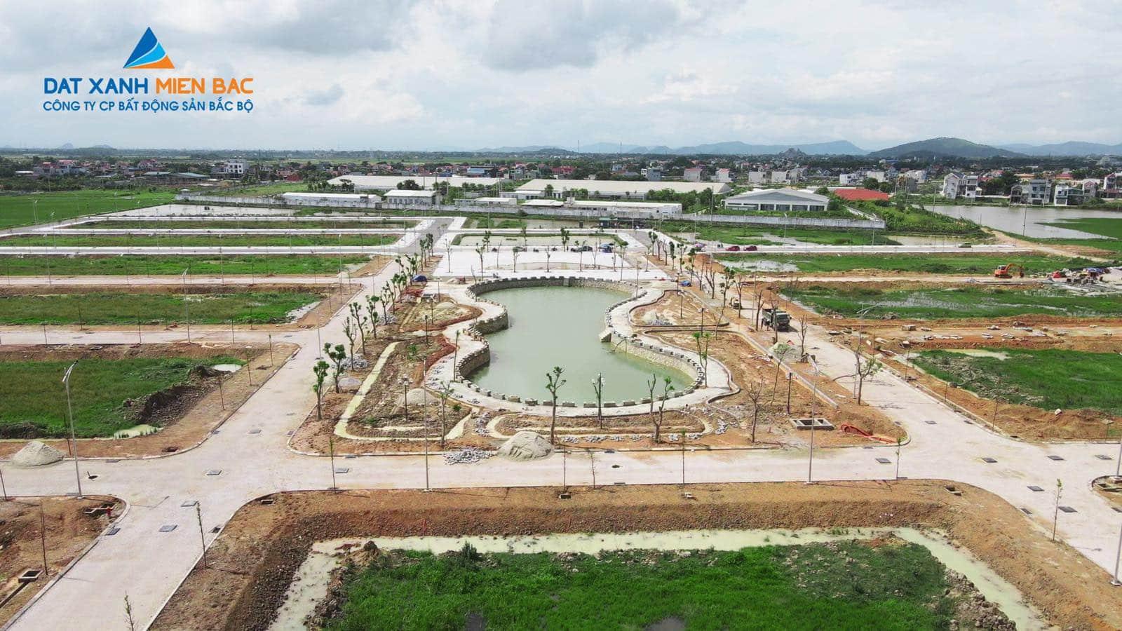 Công viên Hồ điều hòa MB650 Đồng Nam nâng giá trị sống tại KĐT Đông Khê